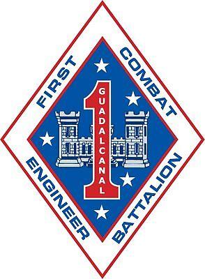 First 1st Combat Engineer Battalion USMC Marine Decal ()