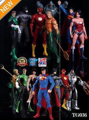 7PCS Justice League Action Figures Wonder Batman Superman Women Flash Toy TG036