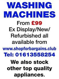 Refurbished Washing Machines for sale from £99 inc. free delivery & installation