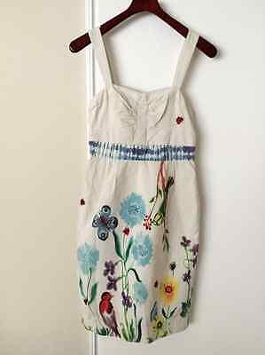 7fbebae066fef Anthropologie Nathalie Lete Paris Pigment & Canvas Dress Sz 4 (runs small)