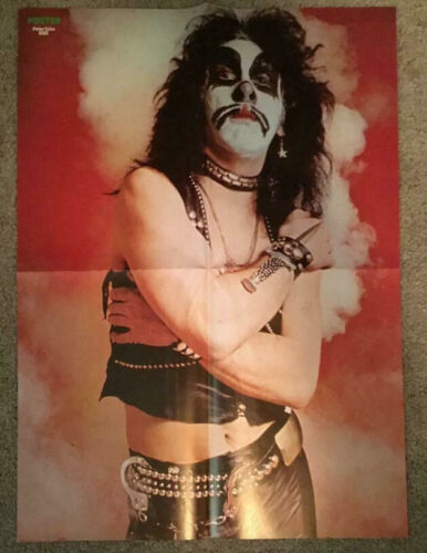 KISS 1974 Peter Criss Red Room Session - Swedish Poster Magazine 1970s Vintage