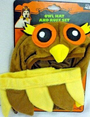 Dog Owl Costume (NEW OWL & RUFF SET DOG HALLOWEEN COSTUME SIZE SMALL)