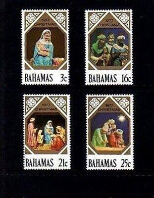 BAHAMAS - 1977 - CHRISTMAS - NATIVITY - CRECHE FIGURES - MINT - MNH SET!