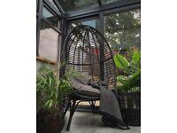 Freestanding garden egg chair. Brand new in box.