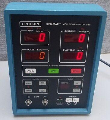 Critikon Dinamap Vital Signs Monitor Model 8100