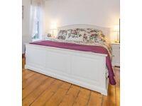 Ikea Birkeland Kingsize bed & side tables