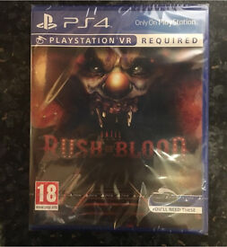 Until dawn rush of blood for playstation vr, brand new