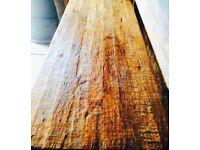 Large Primitive Belgian Oak Refectory Table