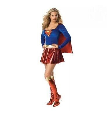 Superwoman Kostüm Supergirl Superheld Damenkostüm Fasching Karneval Gr. - Superhelden Damen