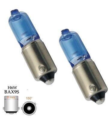 2 H6W  Xenon Look Halogen Lampen Set H6W BAX9s 6 Watt 12V Standlicht Ersatz E Pr - Lampe Standlicht Set