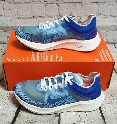 Nike Zoom Fly Sp Fast Running Trainers Size UK 7.5 BRAND NEW Blue/White