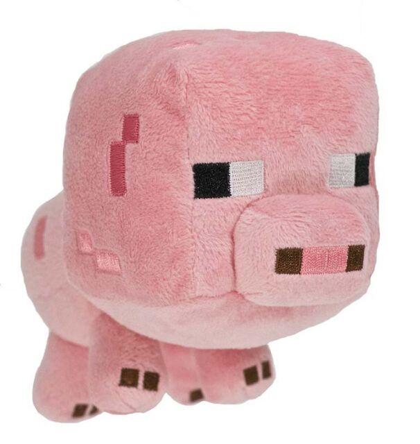 Original Minecraft Plüschtier Plüschfigur Plüsch Stofftier Schwein ca. 18 cm NEU