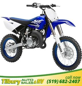 2018 Yamaha YZ85 (2 STROKE) 85cc, liquid-cooled, crankcase engin
