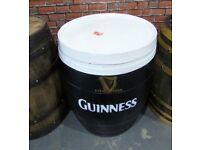 Stunning Refurbished Guinness Oak Hogshead Barrel Table Garden Pub Man Cave - UK Delivery
