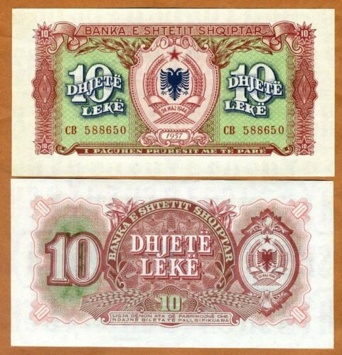 Albania, 10 leke, 1957, P-28, UNC