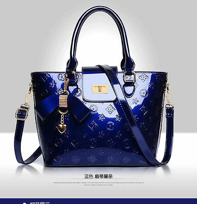 Embossed Fashion Tote - New Women's Fashion Satchel Handbag Patent Leather Embossing Tote Shoulder Bag