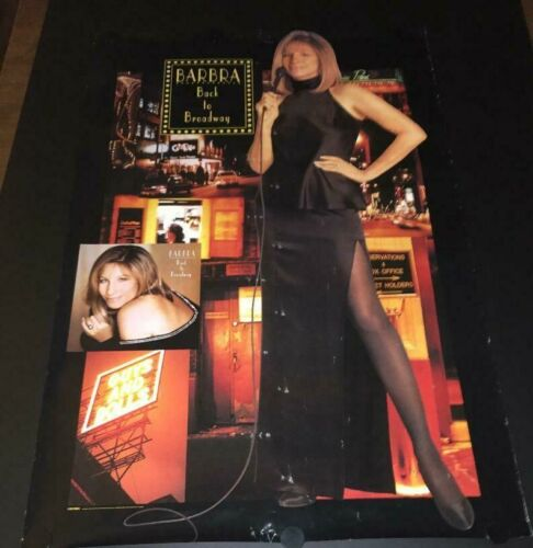 VERY RARE Vintage Barbra Streisand Back to Broadway Columbia Promo Poster