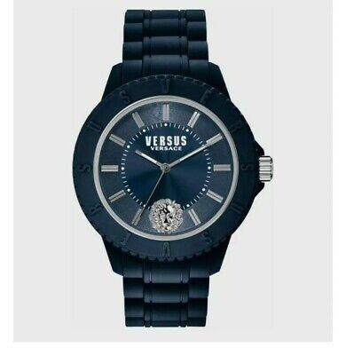 Versus by Versace Men's Tokyo R Quartz Silicone Strap Blue Casual SOY050015 $95