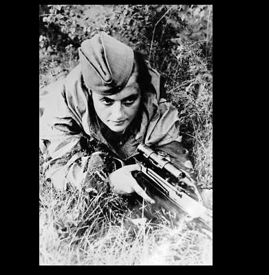 Russian Female Sniper PHOTO Soviet Red Army World War 2, Best Woman Sniper