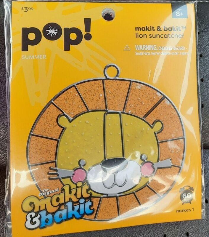 American Crafts Makit & Bakit Suncatcher Kit ~ Lion, Fun Craft Activity! (UB)