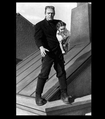 Scary Frankenstein Monster PHOTO Steals Child Creepy Movie Film