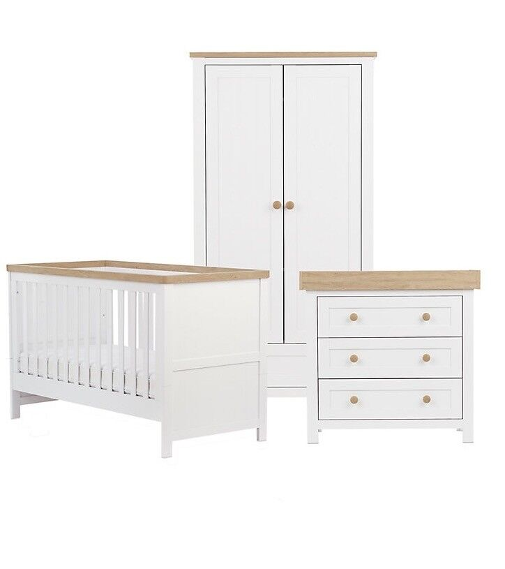 Mothercare Lulworth 3-piece Nursery Furniture Set - Classic White