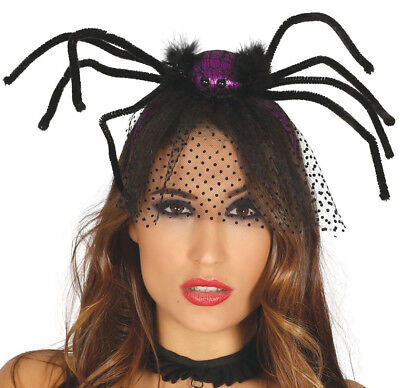 Halloween Spinne Schleier Hut Fascinator Vampir Braut Kostüm Zubehör Vamp ()