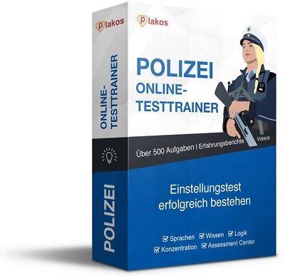 ►Polizei Einstellungstest / Eignungstest | Online-Testtrainer | Inklusive Videos