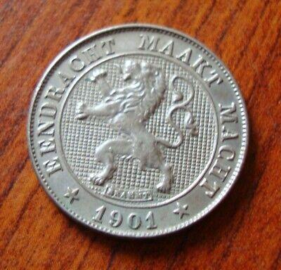 5 centiemen België Leopold II 1901 (vl)
