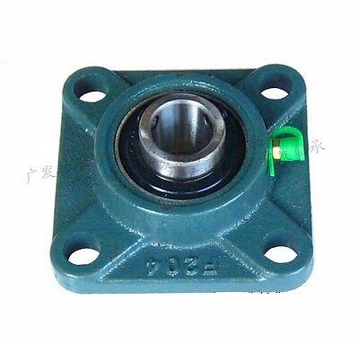 Ucf201-204 4-bolt Square Flange Pillow Block Bearing Screw Insert Bearing X 1pcs