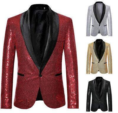Pailletten-club (Herren Pailletten Club Wear Jacken Glitter Singer Performance Stage Blazer Anzug)