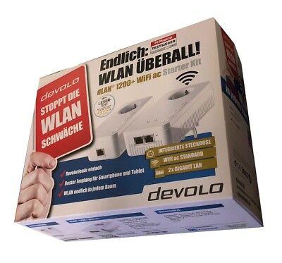 devolo dLAN 1200+ WiFi ac Starter Kit Powerline (bis zu 1200 Mbit/s WLAN ac, 2,4