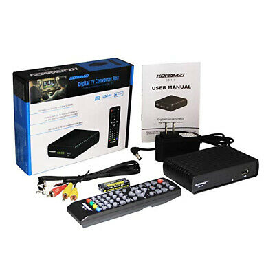 Digital TV to Analog Television Converter Box W DVR Recording Remote Control ()