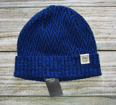 MENS ABERCROMBIE & FITCH ROYAL BLUE BEANIE HAT ONE SIZE