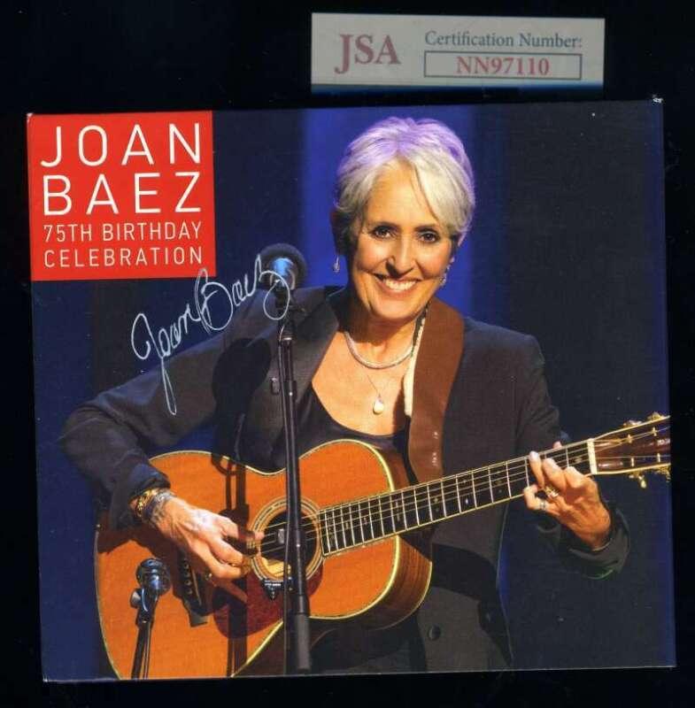 Joan Baez JSA Coa Signed 75th Birthday CD set Autograph