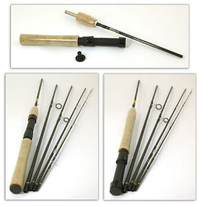 Bison 5 section travel fly spinning rod 8 39 4 6 rod for Fishing rod travel tubes