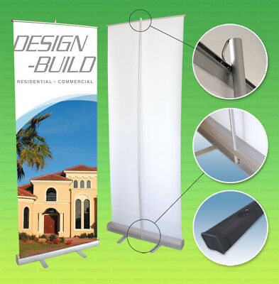 Retractable Banner Stand Roll Pop Up 33x79 Trade Show Sign Display Free Printing