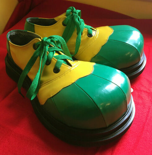 Clown Shoes Pro Patent Leather Green Yellow Men