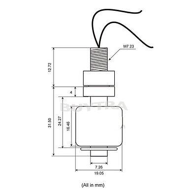 New Hot Sale Small Liquid Water Level Sensor Horizontal Float Switch Bwhwc