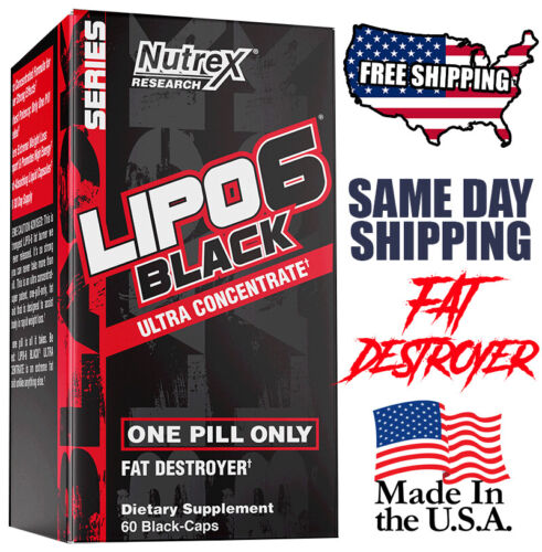 Nutrex Lipo-6 Black Ultra Concentrate UC 60 Cap Weight Loss ,Fat Loss,Get Ripped