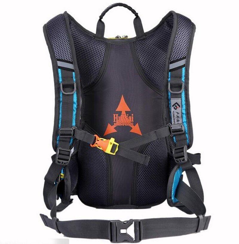 15 L Fahrrad Radfahren Rucksack Camping Helmtasche 2L Wasserbeutel Regenschutz