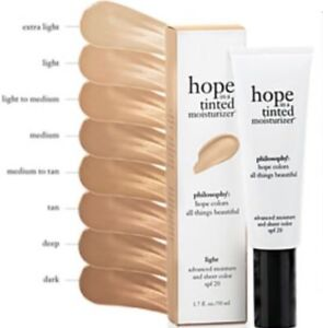 NEW PHILOSOPHY HOPE IN A TINTED MOISTURIZER SPF 20 1.7 OZ TUBE EXTRA LIGHT
