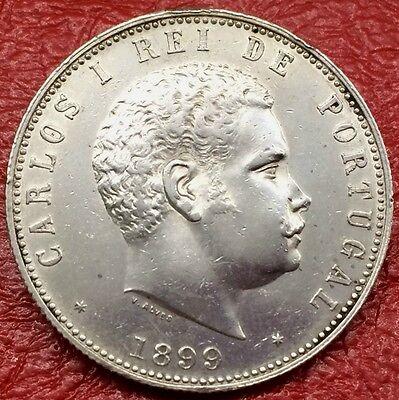 Portugal Carlos I. 1000 Reis 1899 Silber