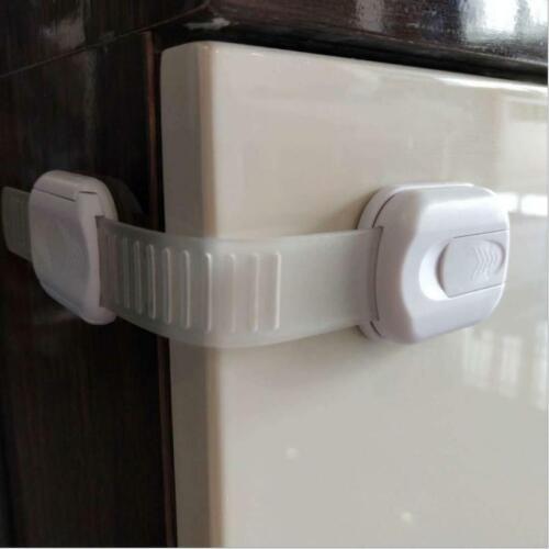 4pcs Child Safety Strap Locks for Fridge Cupboard Cabinets Drawers Dishwasher