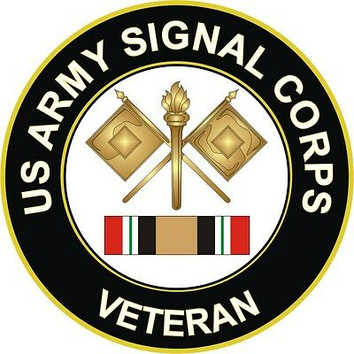 "Army Signal Corps Iraq Veteran 5.5"" Decal / Sticker"
