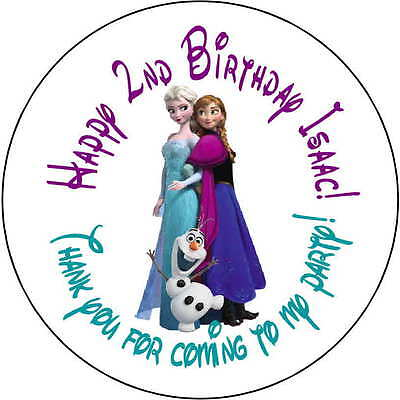 12 Frozen Elsa Olaf stickers Birthday Party loot bag 2.5 Inch Personalized  - Olaf Birthday