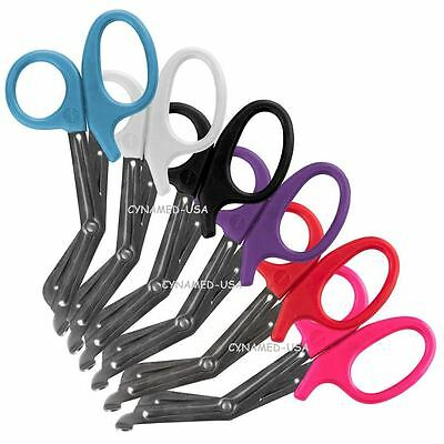 New Set Of 6 Nurse Emt Medical 7.5 Utility Bandage Scissors Shears Paramedic