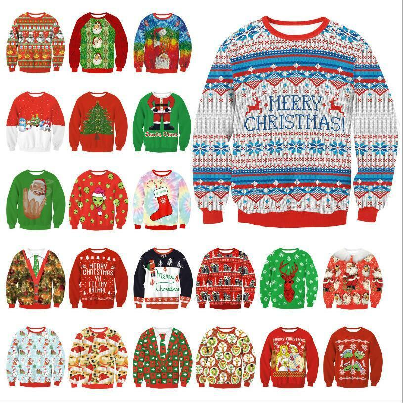 British Christmas Jumpers Merry Fairisle Mens Christmas Jumper Felpa Uomo