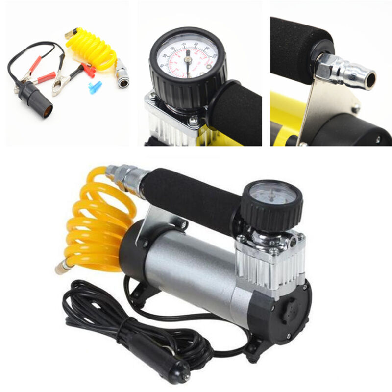 12v 100 PSI Hi Speed Car Van Wheel Tyre Air Compressor Inflator Electric Pump