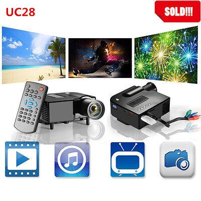 Full HD 1080P Home Theater LED Mini Multimedia Projector Cinema USB TV HDMI TOP!